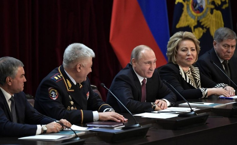 Коллегия МВД и Путин и все
