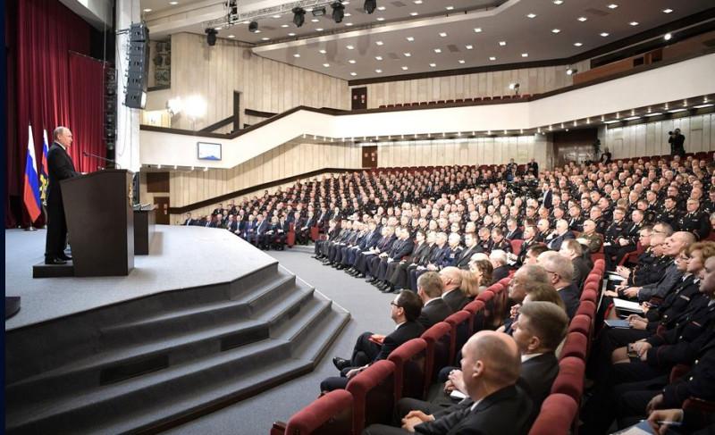 Коллегия МВД и Путин