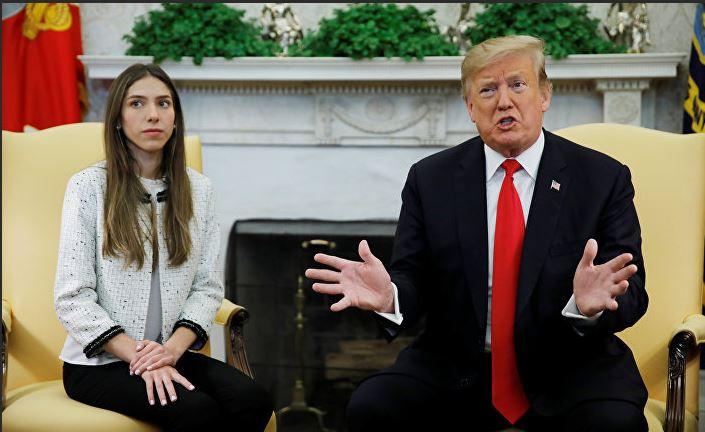Трамп и супруга Гуайдо