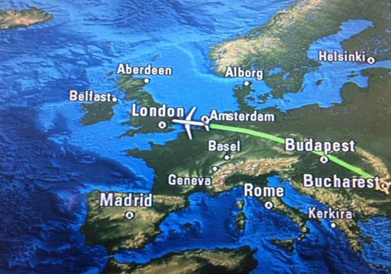 Перелет в Лондон