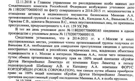 Дело Минеева 2