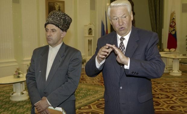 Масхадов и Ельцин
