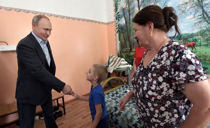Путин в Иркутской области