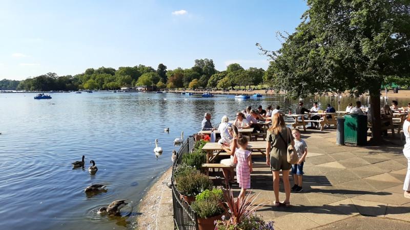 Лондон пруд в Гайд-парке