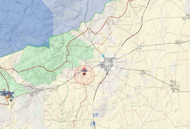 место крушение самолета ВВС Сирии