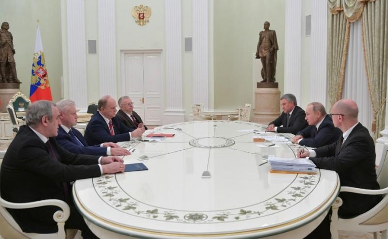 Путин и лидеры фракций