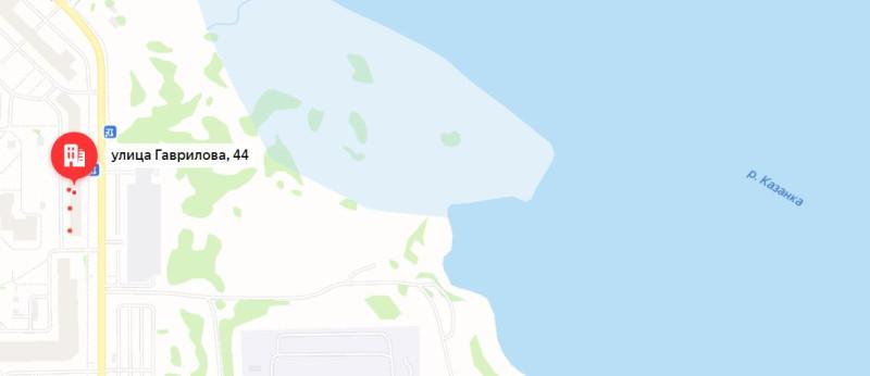 Гаврилова 44 на карте