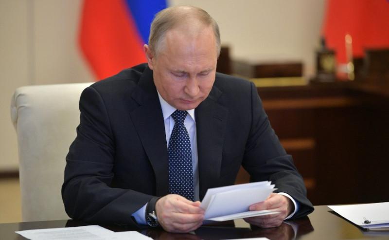 Путин на совешание с вирусологами