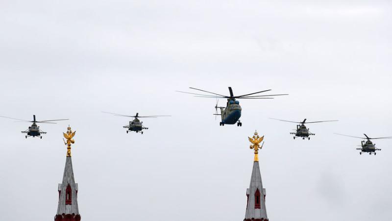 Вертолеты над Москвой