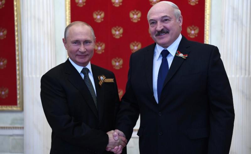 Путин и Лукашенко 24 июня