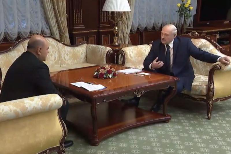 Лукашенко и Мушустин