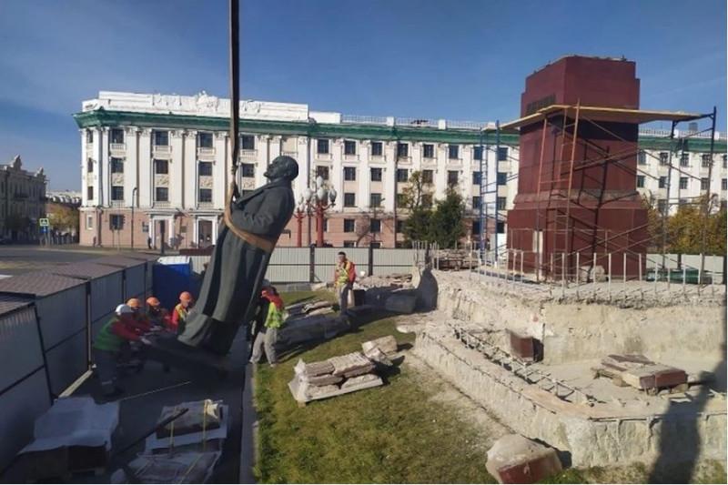 демонтаж Ленина
