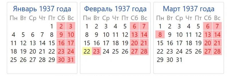 Год Быка 1937