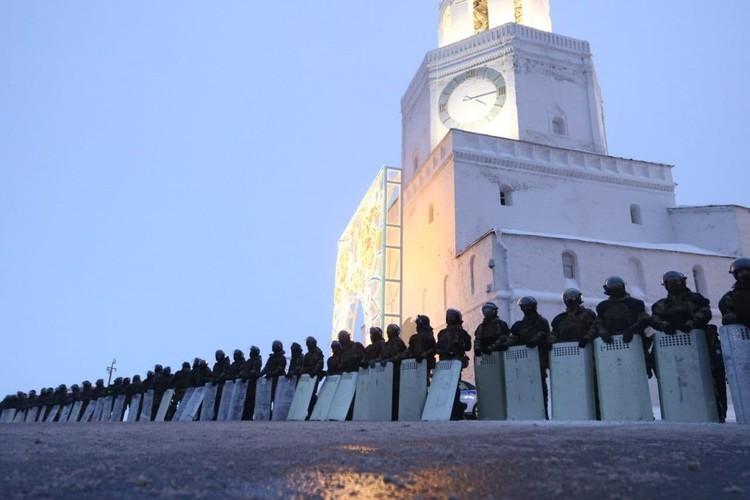 Казань Кремль оцепление