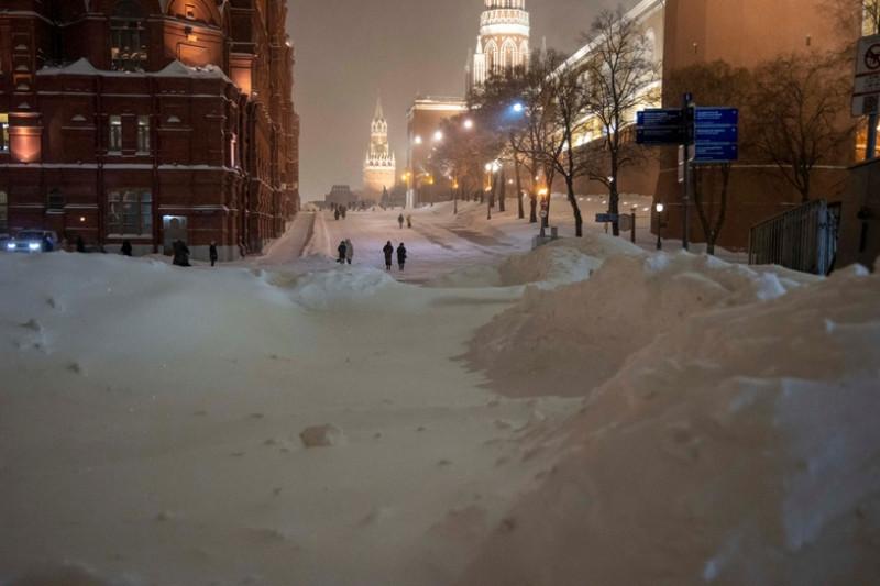 Москва в сугробах