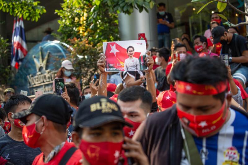 Протест в М