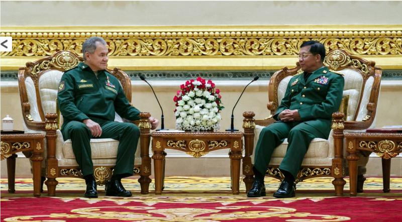 Шойгу и генерал Мьянмы 0