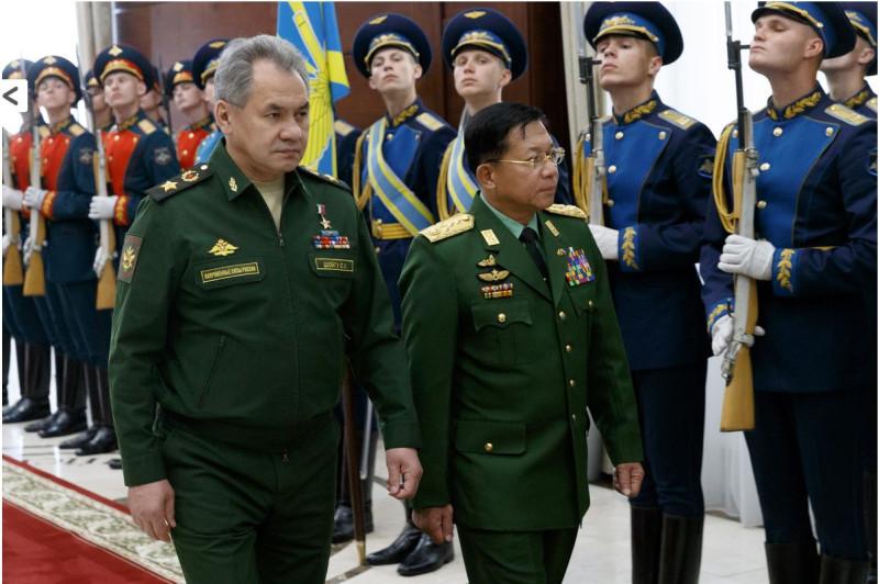 Шойгу и генерал Мьянмы
