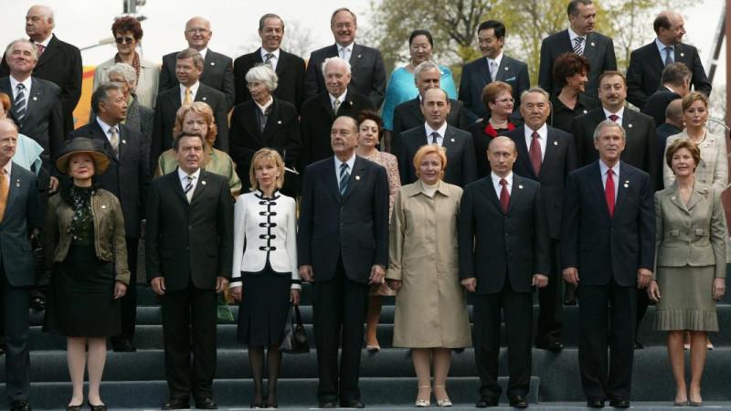 Главы государств в Москве 9 мая 2005