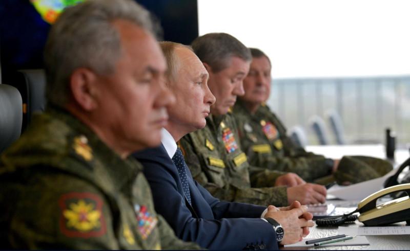 Путин на учениях 2
