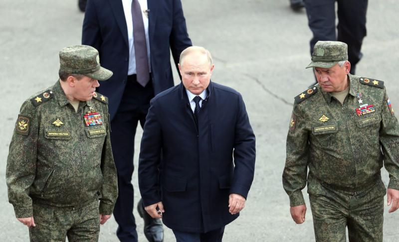 Путин на учениях
