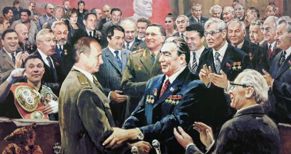 Андрей Будаев  и ВВП с Брежневым