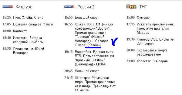ТВ программа передач