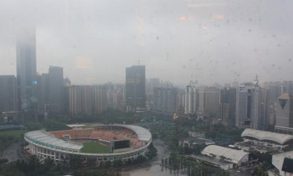 Китай вид из окна отеля