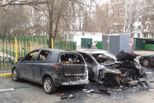 Авто в огне