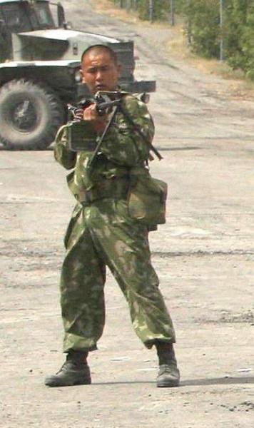 Солдат-бурят в Грузии2