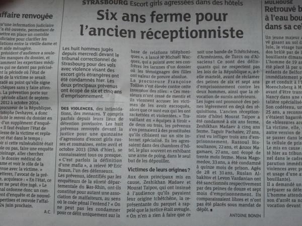 Чеченцы в Страсбурге