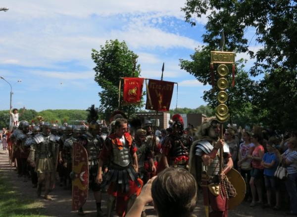 Легионеры в колонне