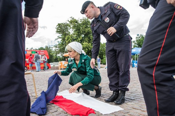 Надя и флаг