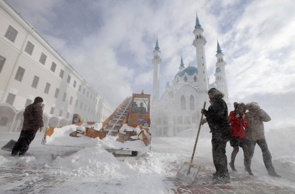 Казань Кремль снег