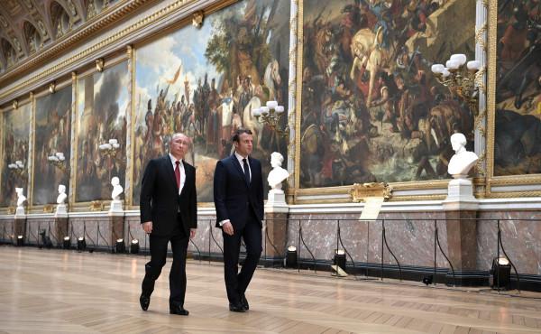Путин и Макрон в Версале