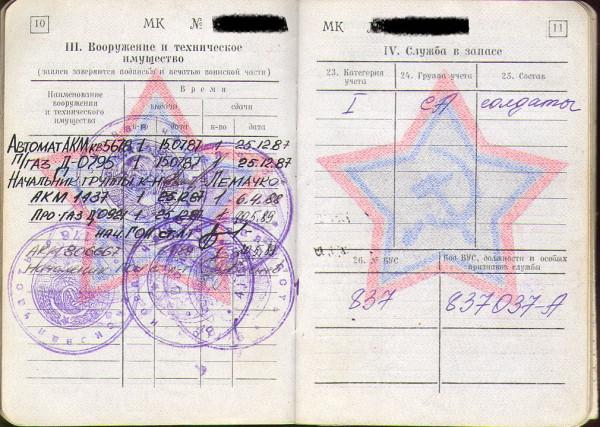 Агеев военный билет 3