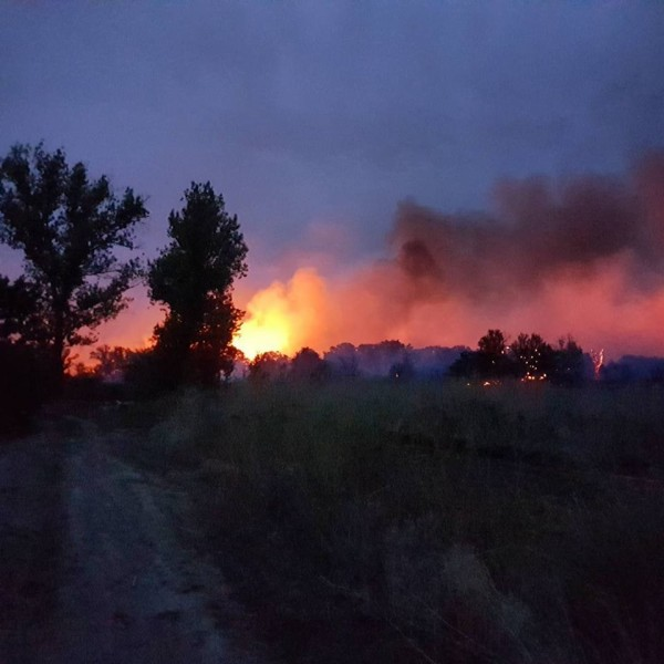Волгоградская область пожар