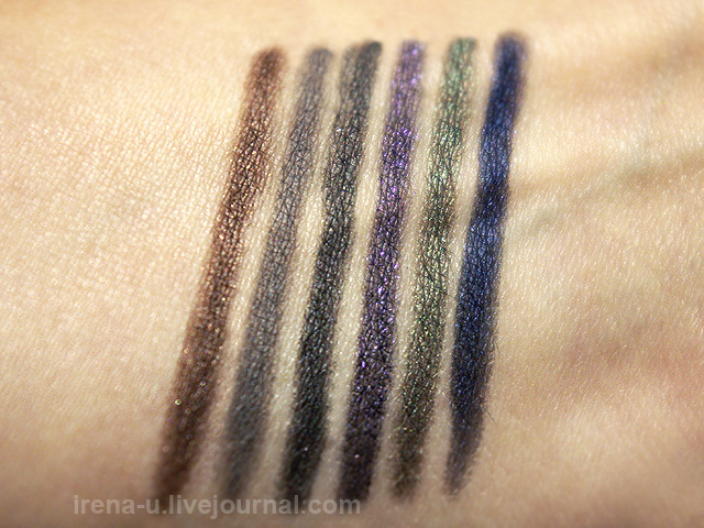 Urban Decay Black Market 24/7 Glide-On Pencil Set review свотчи