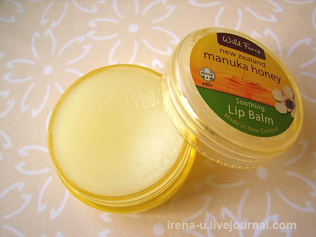 Успокаивающий бальзам для губ с медом манука Wild Ferns отзывы