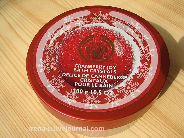 Соль для ванны The Body Shop Cranberry Joy Bath Salts — «Сочная клюква» отзывы