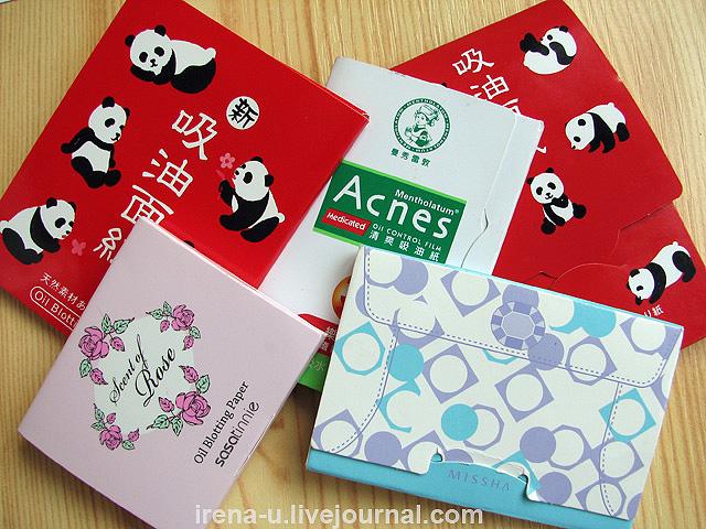 Азиатские матирующие салфетки отзывы
