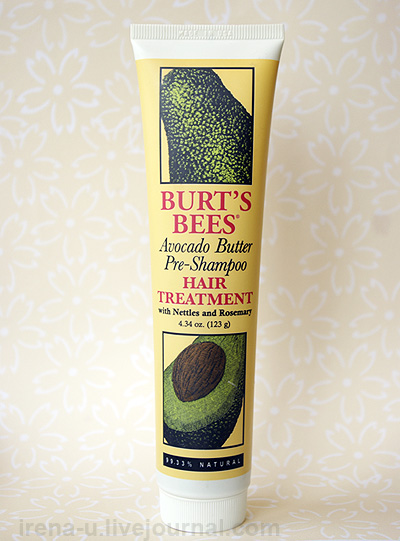 Маска для волос Burt's Bees, Avocado Butter Pre-Shampoo, Hair Treatment отзывы