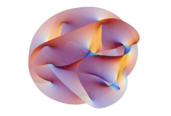 двумерная проекция трехмерного многообразия Калаби-Яу