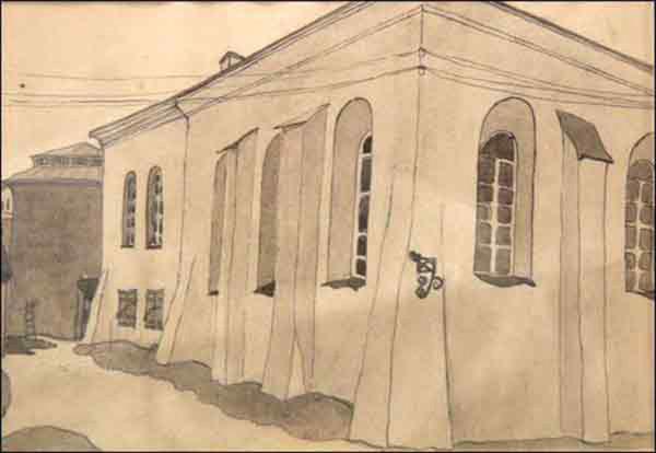 Филиппович М. Холодная синагога. 1924. акварель.