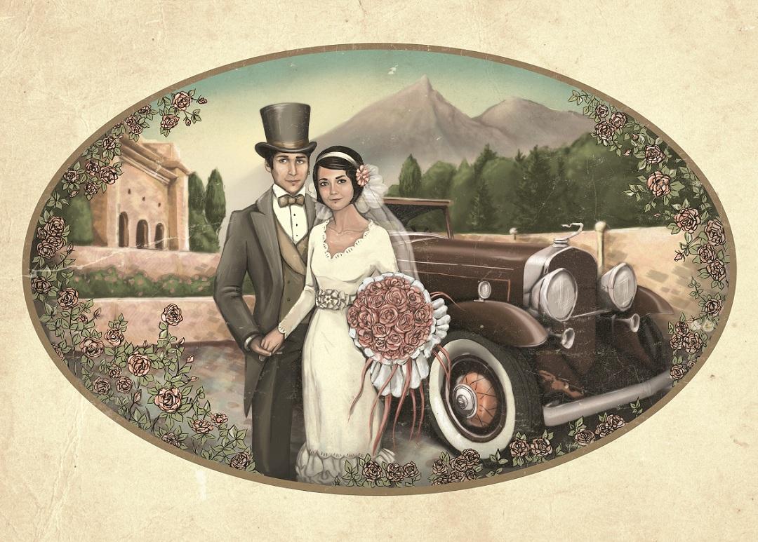 Открытки свадьбы ретро
