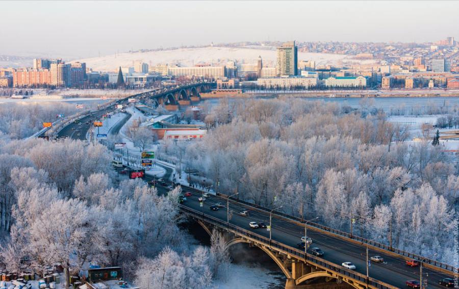 Зима мост
