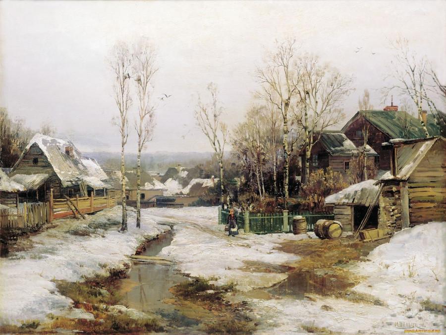 И.Вельц. В окрестностях Петербурга..1896г.