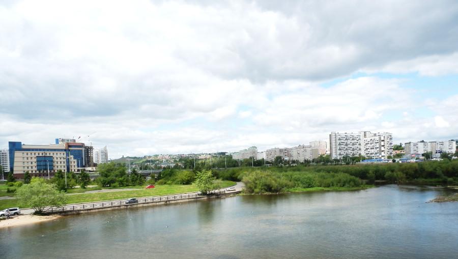 Город  с моста