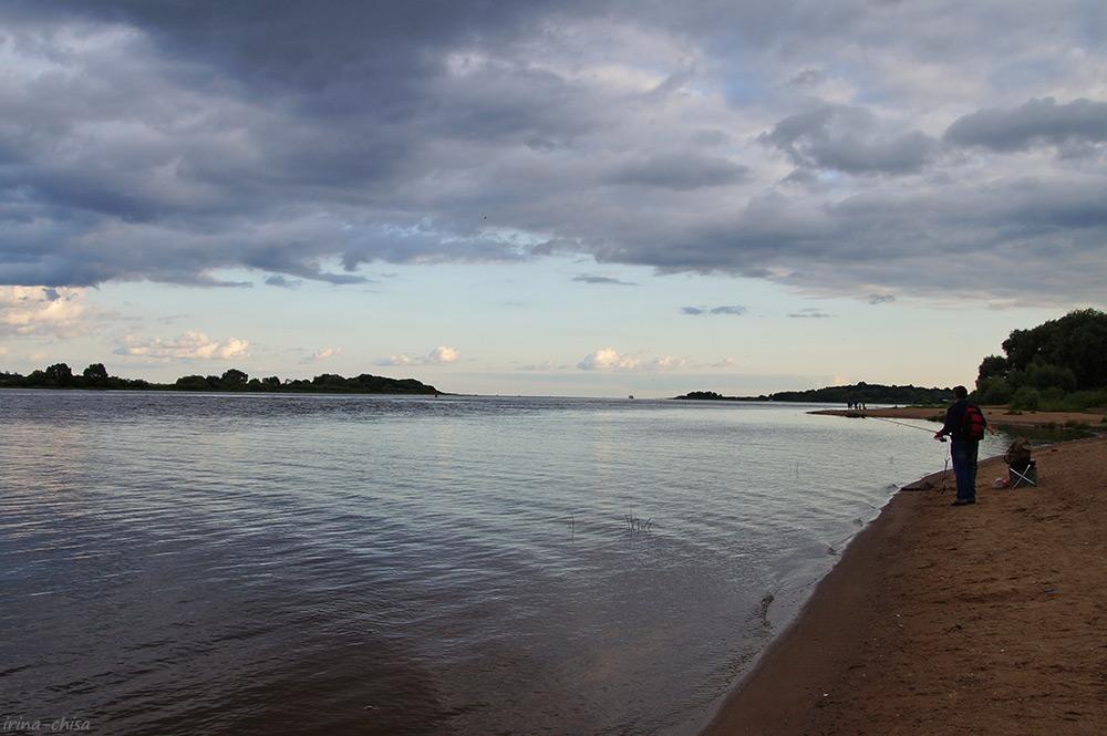 Исток Волхова и озеро Ильмень