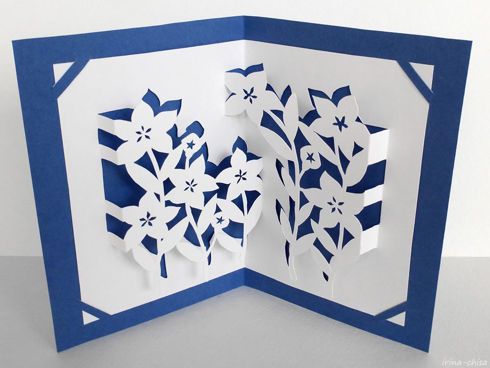 Японское киригами. Китайский колокольчик